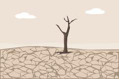 Cordon criqu? sec Érosion du sol et désertification illustration stock
