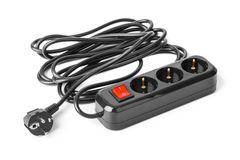 Cordon d'extension électrique image libre de droits