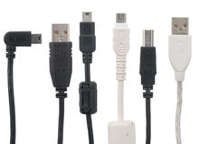 Cordon d'USB Photos libres de droits