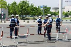 Cordon de police dans le quart de gouvernement (Regierungsviertel) Photos libres de droits