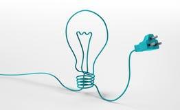 Cordon formant un symbole d'ampoule illustration de vecteur