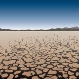 Cordon sec dans le désert illustration de vecteur