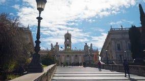 Cordonata Capitolina w Rzym zdjęcie wideo