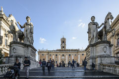 The cordonata the square of the capitol rome italy europe Royalty Free Stock Photography
