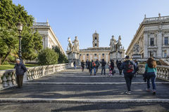 The cordonata the square of the capitol rome italy europe royalty free stock images