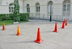 Cordoned off area Royalty Free Stock Photos