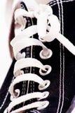 Cordones de zapato fotografía de archivo