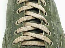 Cordones de zapato en primer Fotografía de archivo