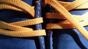 Cordones de zapatos Imágenes de archivo libres de regalías