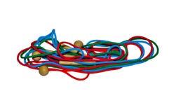 Cordones del color Fotos de archivo libres de regalías