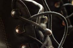 Cordones negros Imagen de archivo libre de regalías
