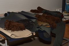 Cordones y cuero Foto de archivo