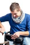 Cordonnier - réparation de chaussures Images libres de droits