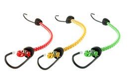 Cordons colorés de corde de bungee photo stock