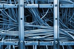 Cordons de correction d'Ethernet Images stock