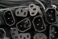 Cordons et coupleurs de secteur pour les appareils électroménagers d'usage universel photo stock