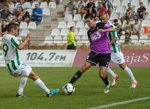 CORDOUE, ESPAGNE - 18 AOÛT :  Óscar Ramírez B (20) dans l'action pendant la ligue de match Cordoue (w) contre Ponferradina (b) (1- Photographie stock libre de droits