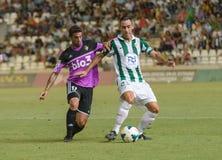 CORDOUE, ESPAGNE - 18 AOÛT : Abel G?mez W (23) dans l'action pendant la ligue de match Cordoue (w) contre Ponferradina (b) (1-0) Image stock