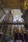 CORDOUE - L'ESPAGNE - 10 JUIN 2016 : Dôme blanc M de plafond de cathédrale Photo stock