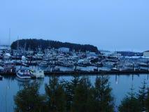 Cordova Alaska hamn Arkivfoton
