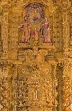 Cordova - il gruppo scultoreo scolpito della famiglia santa sull'altare principale in chiesa del monastero di St Ann e di stJosep Fotografia Stock Libera da Diritti