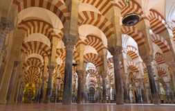 Cordova - navate di Abd-AR-Rahman I nella cattedrale Fotografie Stock