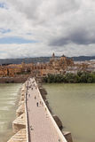 Cordova. Roman bridge over the Guadalquivir. Stock Photos