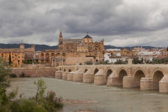 Cordova. Roman bridge over the Guadalquivir. Royalty Free Stock Images