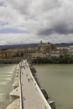 Cordova. Roman bridge over the Guadalquivir. Stock Images