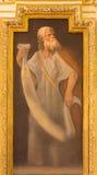 CORDOVA, SPAGNA: Affresco del profeta in chiesa Iglesia de San Augustin da 17 centesimo da Cristobal Vela e da Juan Luis Zambrano Immagine Stock Libera da Diritti