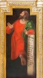 CORDOVA, SPAGNA: Affresco del profeta Micah in chiesa Iglesia de San Augustin da Cristobal Vela e da Juan Luis Zambrano Immagini Stock