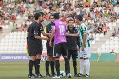 CORDOVA, SPAGNA - 18 AGOSTO: Abel Gomez W (23) nell'azione durante la lega della partita Cordova (w) contro Ponferradina (B) (1-0) Fotografie Stock