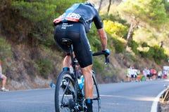 CORDOVA, SPAGNA - 26 agosto 2014: Vasyl Kiryienka (Team Sky) durante la fase di La Vuelta Fotografia Stock