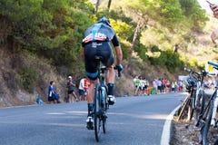 CORDOVA, SPAGNA - 26 agosto 2014: Vasyl Kiryienka (Team Sky) durante la fase di La Vuelta Immagini Stock Libere da Diritti