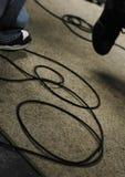 cords gitarrmusiker Arkivbilder