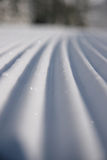 Corduroy 2. A closeup perspective of a perfectly groomed ski run Royalty Free Stock Photography
