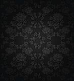 Corduroy dark background, gray flowers texture Stock Image