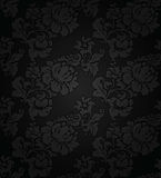 Corduroy dark background, ornamental flowers texture Royalty Free Stock Photography