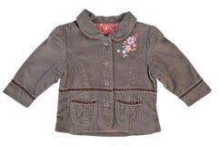 Corduroy jacket for girl. Isolated on white Stock Photo