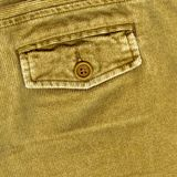 Corduroy pants. Pocket detail with button Royalty Free Stock Image