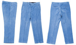 Corduroy trousers. On white background Stock Photography
