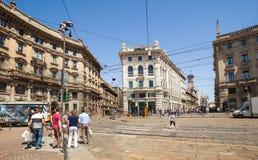 Cordusio square. Italy Stock Photo