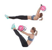Core bag exercise. Executed with a professional trainer stock photos