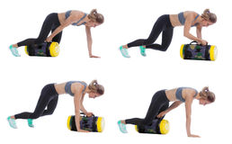 Core bag exercise. Executed with a professional trainer stock photo