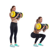 Core bag exercise Royalty Free Stock Photography