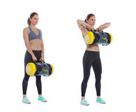 Core bag exercise. Executed with a professional trainer royalty free stock photo