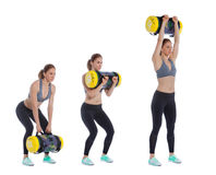 Core bag exercise. Executed with a professional trainer royalty free stock photography