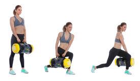 Core bag exercise. Executed with a professional trainer Stock Photography