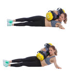 Core bag exercise. Executed with a professional trainer royalty free stock images