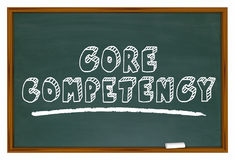 Core Competency Chalkboard Top Capability Competitive Edge 3d Il. Lustration Stock Photo